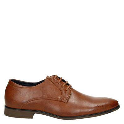 Bottesini heren veterschoenen cognac