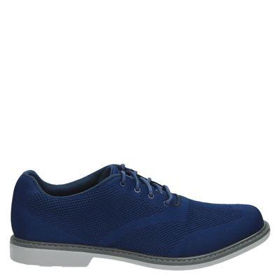 Skechers heren veterschoenen blauw