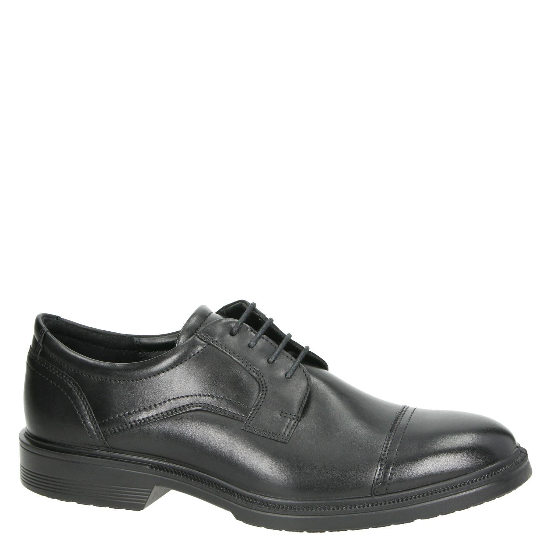 Ecco Lisbon - Lage nette schoenen voor heren - Zwart Wi5BcUS