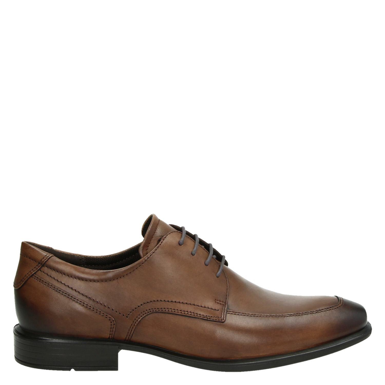Ecco Cairo heren lage nette schoenen cognac