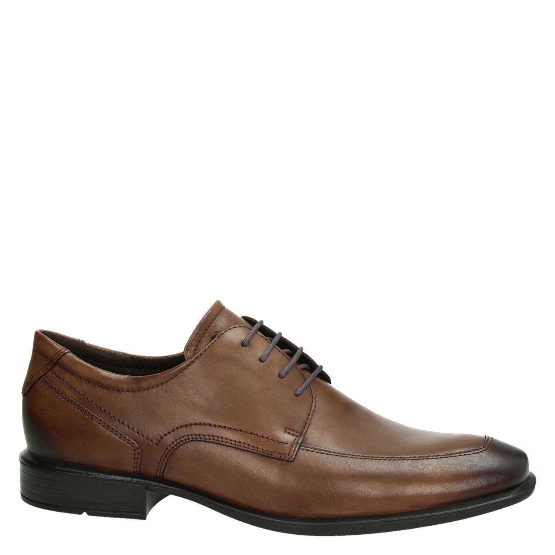 Ecco Cairo - Lage nette schoenen voor heren - Cognac mETk2zq