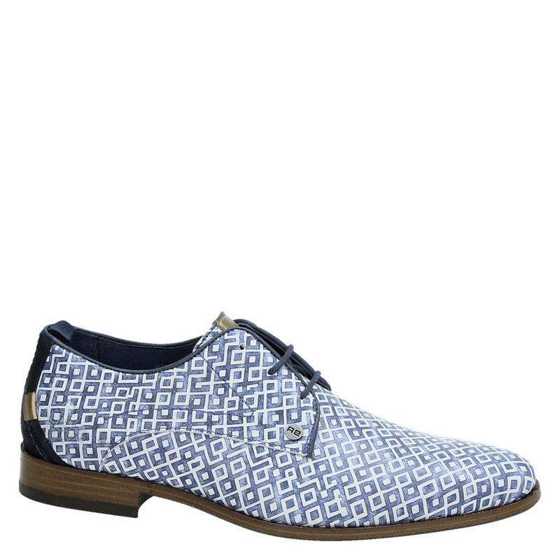 Rehab Greg Checker - Lage nette schoenen - Blauw