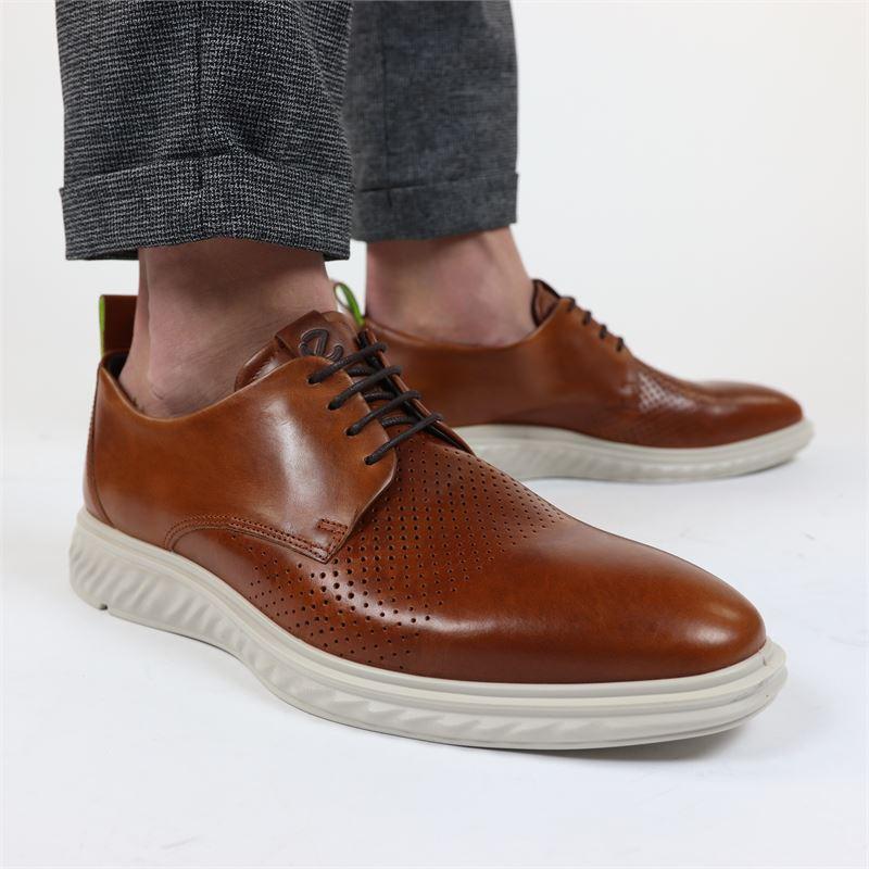 Ecco ST.1 Hybrid Lite - Lage nette schoenen - Cognac
