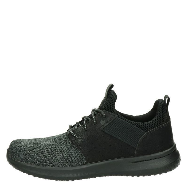 Skechers Delson - Lage sneakers - Zwart