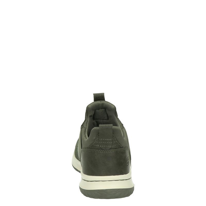 Skechers Delson - Lage sneakers - Groen