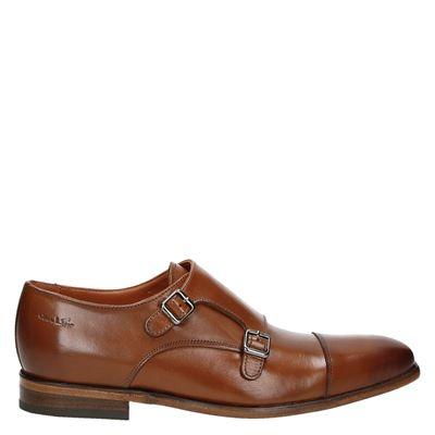 Van Lier heren lage nette schoenen cognac