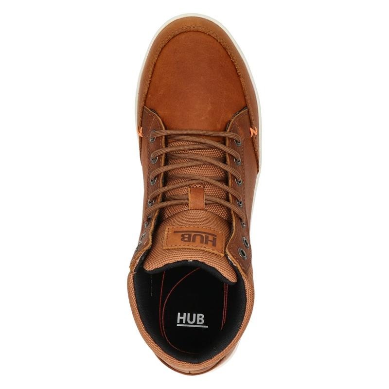 Hub Industry - Hoge sneakers - Cognac