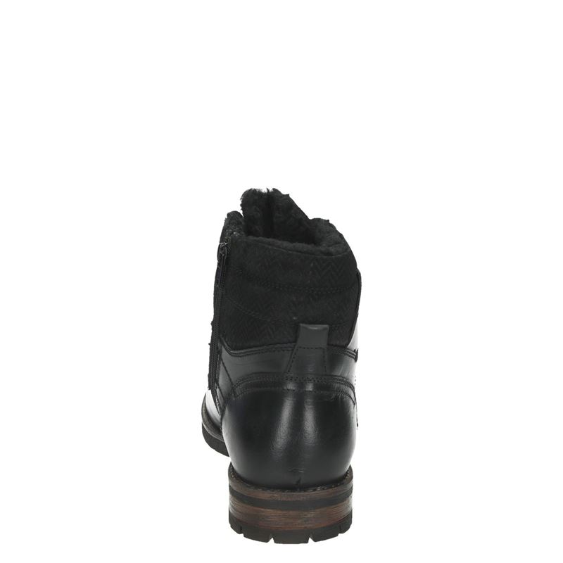 Nelson - Veterboots - Zwart