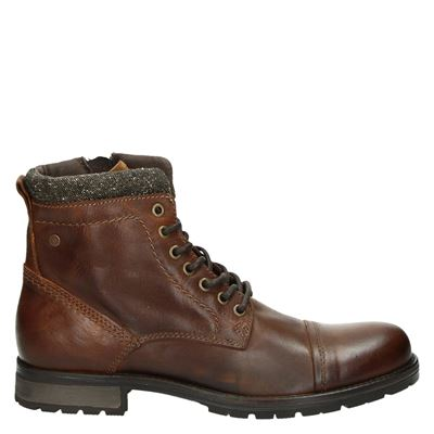 Jack & Jones heren boots cognac