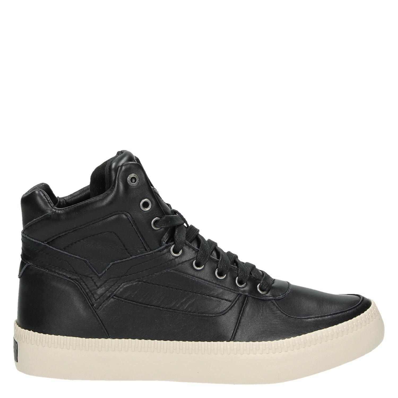 Diesel Spaark Chaussures De Sport Haut Milieu Noir dlIy95j8u