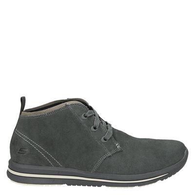 Skechers heren veterschoenen grijs