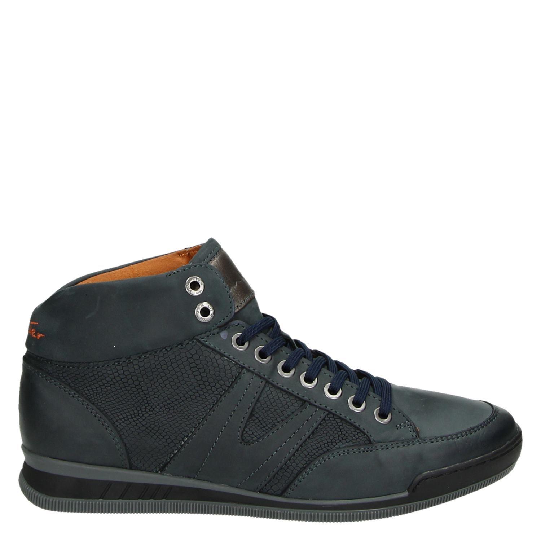 Heren Van Lier Hoge sneakers blauw Kenmerkend Herenschoenen