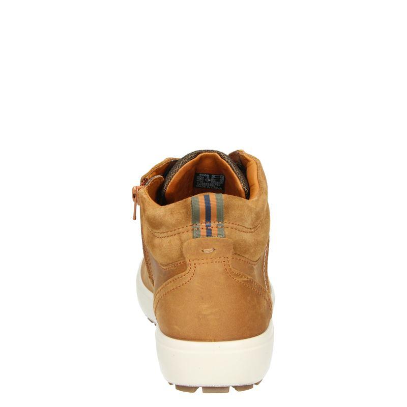 Ecco Soft 7 Tred M heren - Veterboots - Cognac