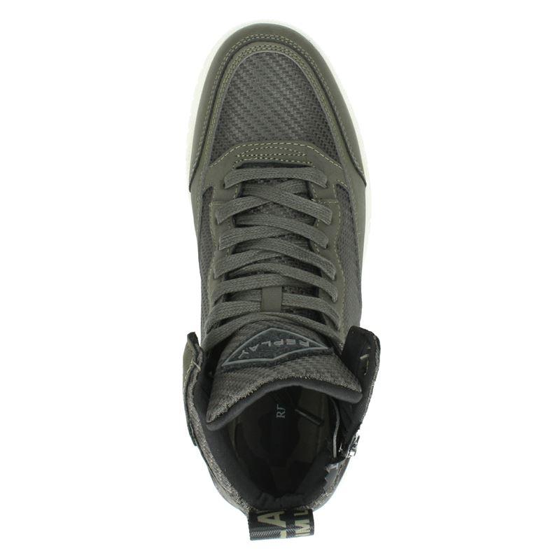 Replay Mission - Hoge sneakers - Kaki