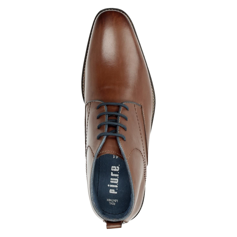 76a15e6c396 Piure heren hoge nette schoenen cognac