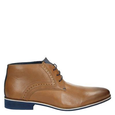 Piure heren nette schoenen cognac