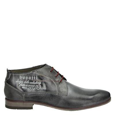 Bugatti heren veterschoenen grijs