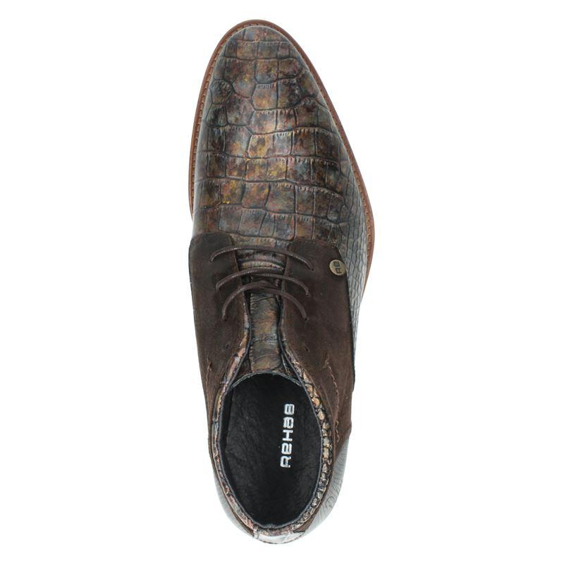 Rehab Salvador Croco - Lage nette schoenen - Bruin