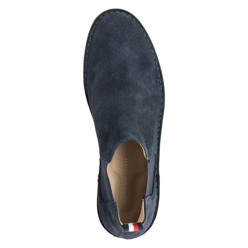Tommy Hilfiger Sport Th Dress Casual Sued - Chelseaboots - Blauw