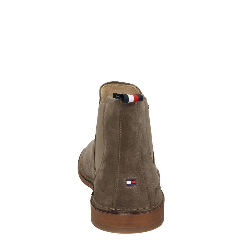 Tommy Hilfiger Sport Th Dress Casual Sued - Chelseaboots - Taupe
