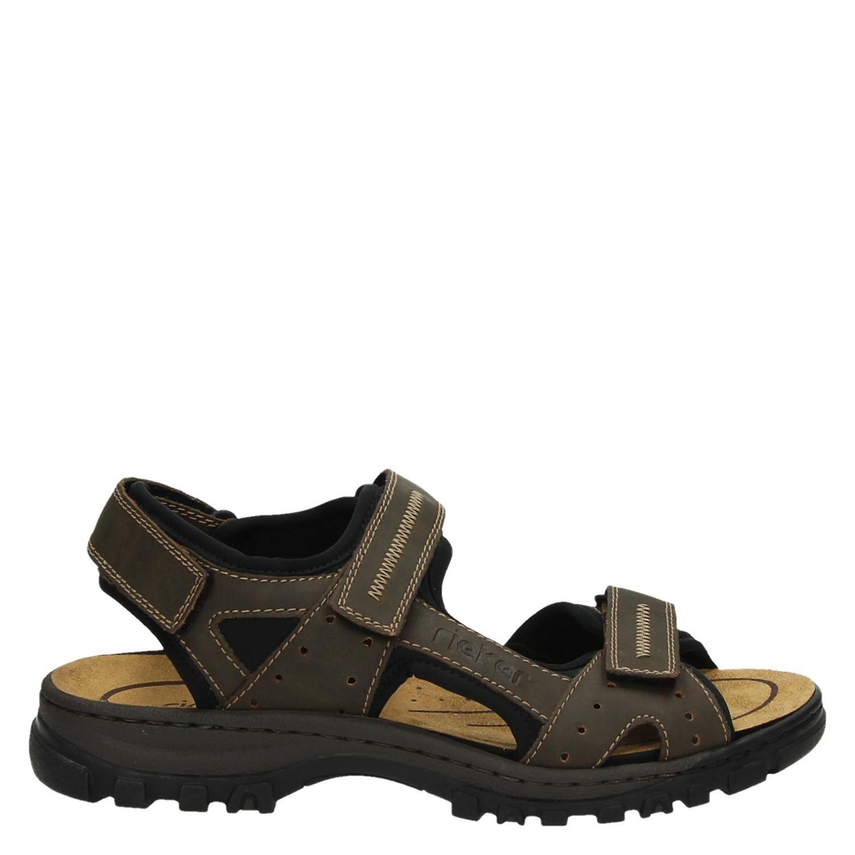 populaire winkels high fashion beste kwaliteit Rieker heren sandalen bruin