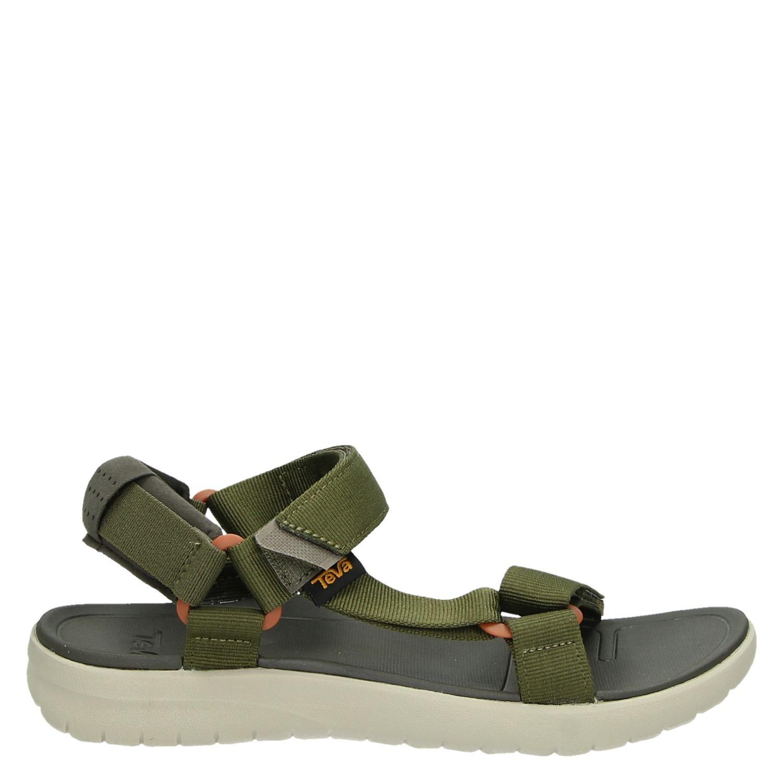 Chaussures Teva Verts Avec Des Hommes De Fermeture Velcro 21KFm