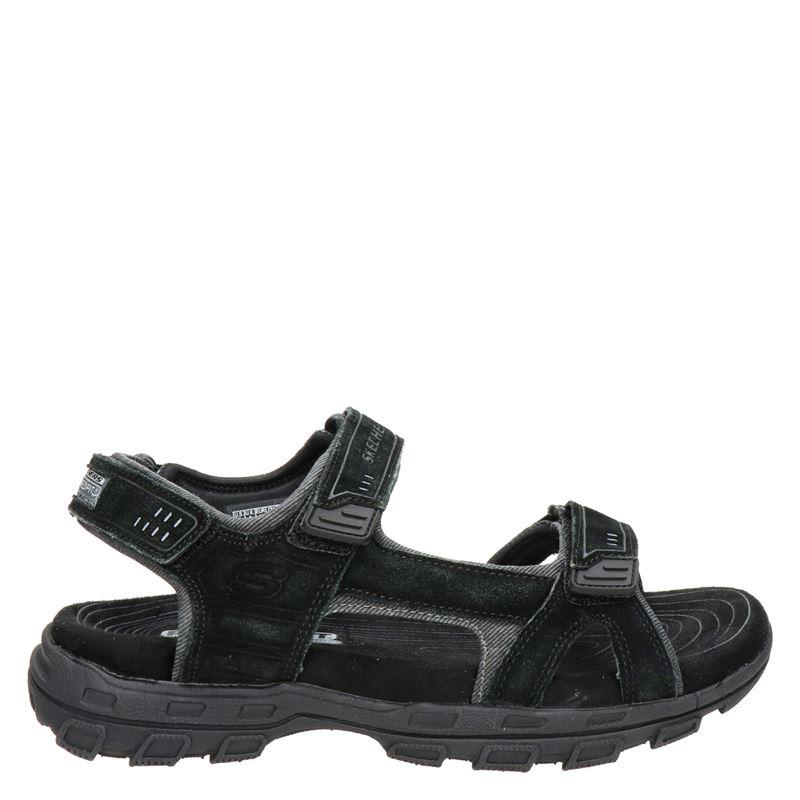 Skechers suède sandalen zwart online kopen