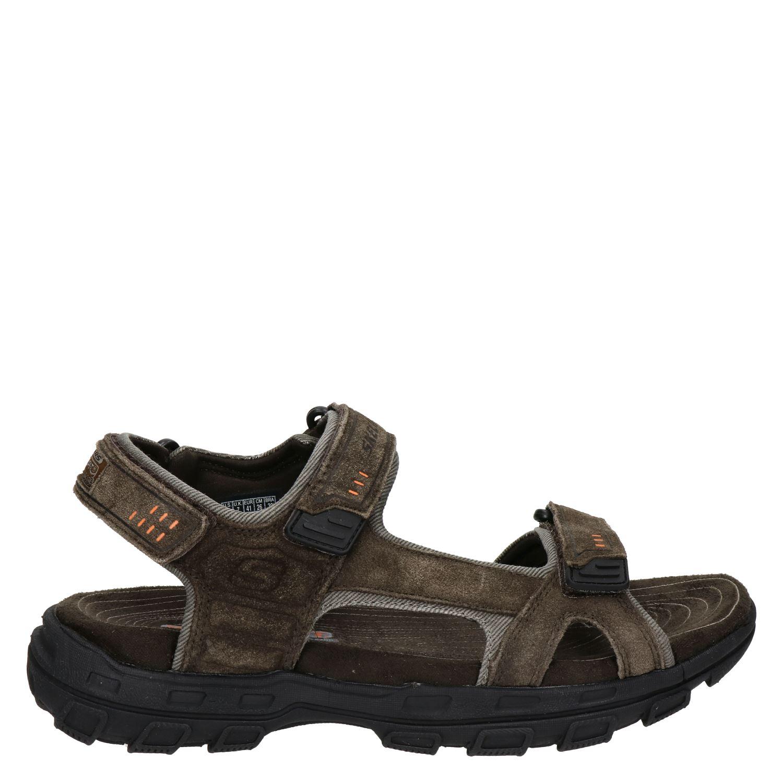 timeless design 18942 67e63 Skechers heren sandalen bruin