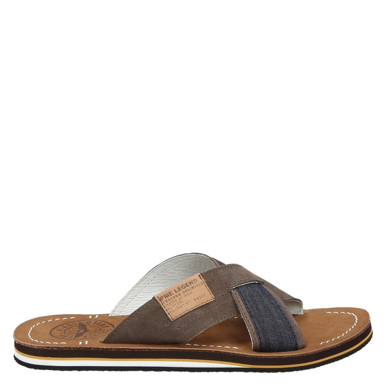 outlet winkel goede textuur tinten van PME Legend heren slippers bruin