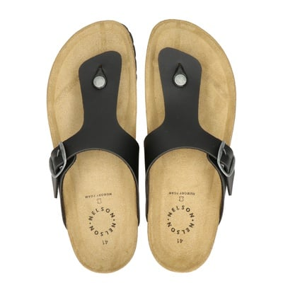 Nelson heren slippers zwart
