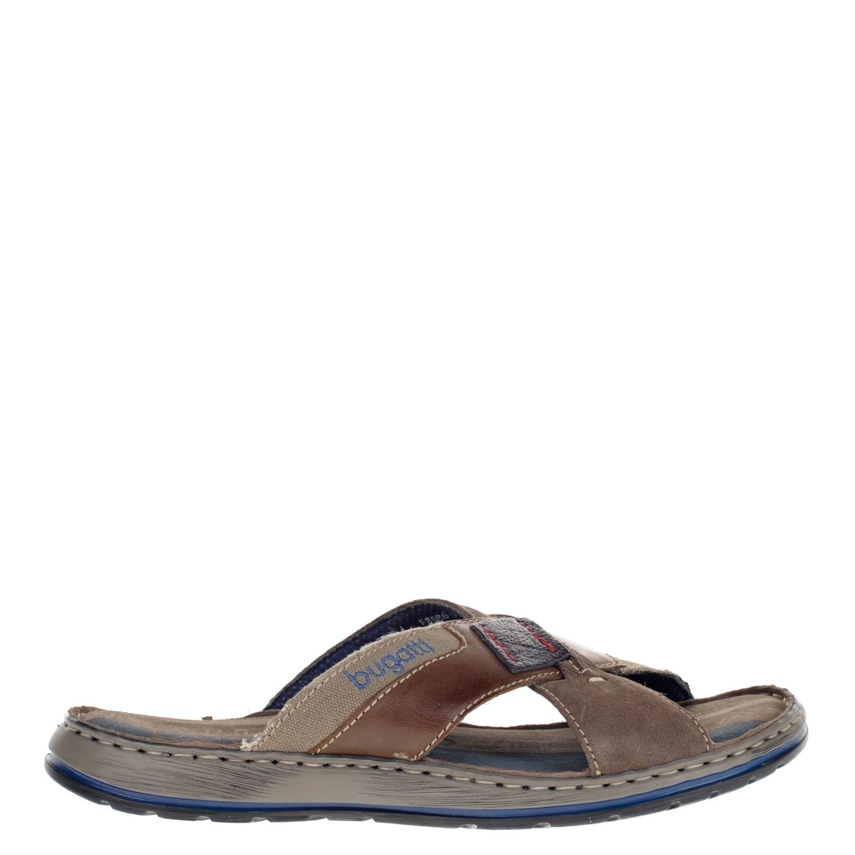 ebe5161f8367c2 Bugatti heren slippers bruin