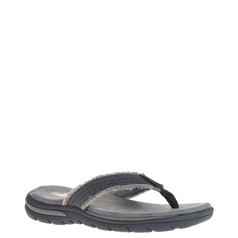 Skechers heren slippers zwart