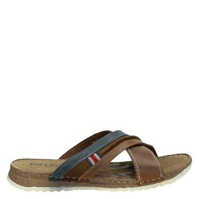 Nelson heren slippers bruin