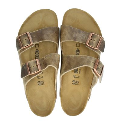 Birkenstock heren slippers taupe