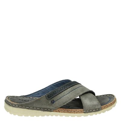 Nelson heren slippers grijs