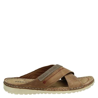 Nelson heren slippers cognac
