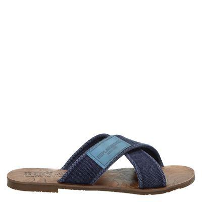 Replay heren slippers blauw