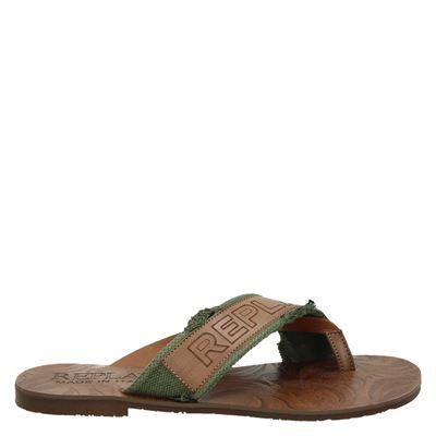 Replay heren slippers groen
