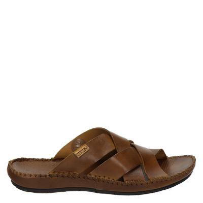 Pikolinos heren slippers cognac
