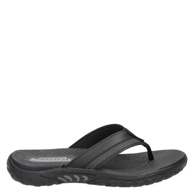 Skechers heren slippers zwart