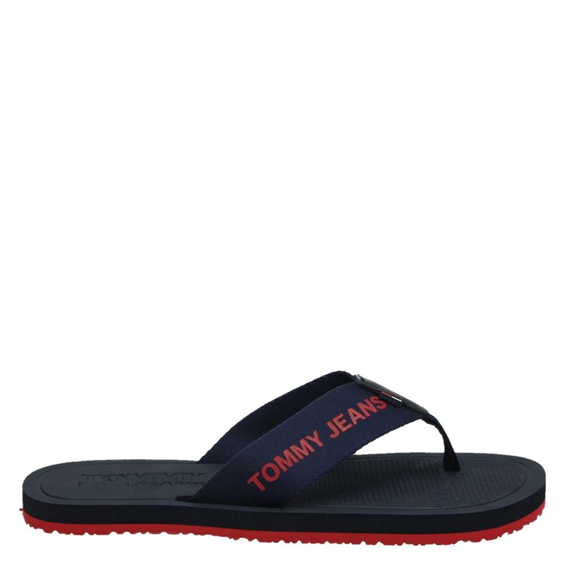 Tommy Jeans TJ Moulded Beach san - Badslippers - Blauw