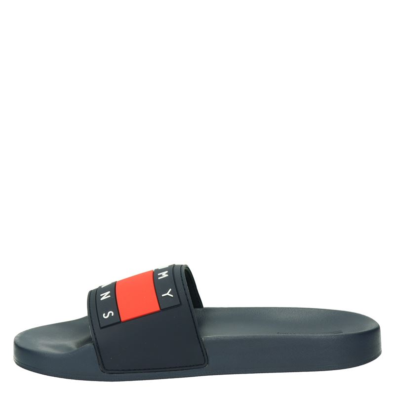 Tommy Jeans Flag Pool Slide - Badslippers - Blauw
