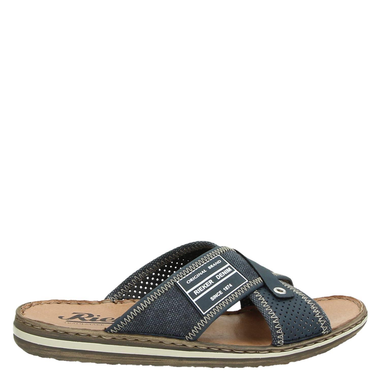 laatst winkel bestsellers echt comfortabel Rieker heren sandalen blauw