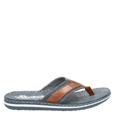 Rieker heren slippers blauw
