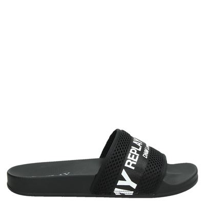 Replay heren slippers zwart