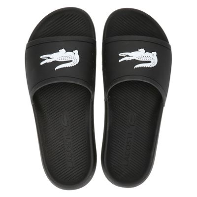 Lacoste Croco Slide - Badslippers - Zwart