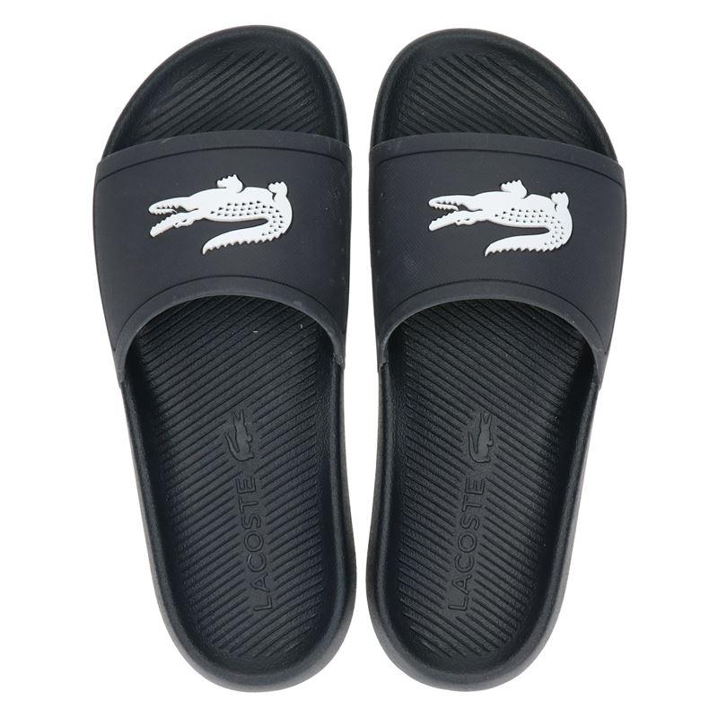 Lacoste Croco Slide - Badslippers - Blauw
