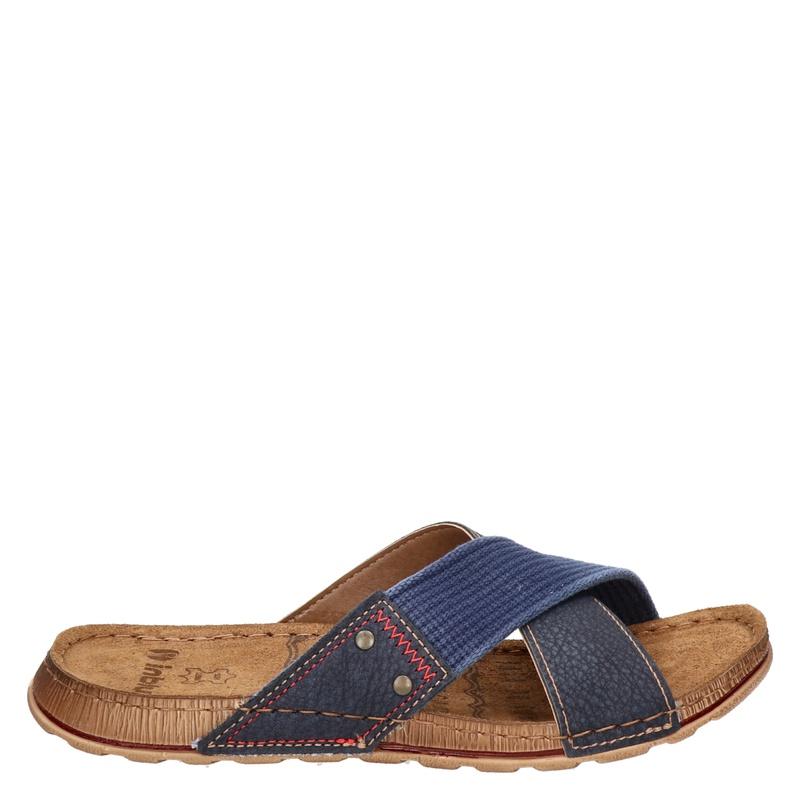 inBlu - Slippers - Blauw