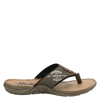 Rieker heren slippers bruin