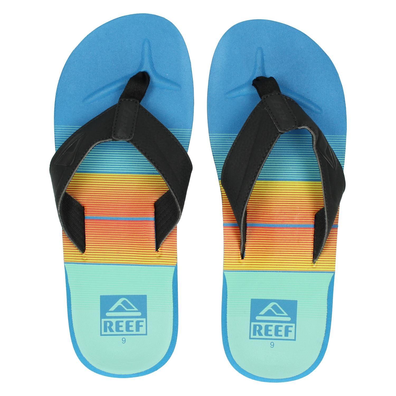 Impressions Récif-pantoufles-ht-bleu WPNLKnY